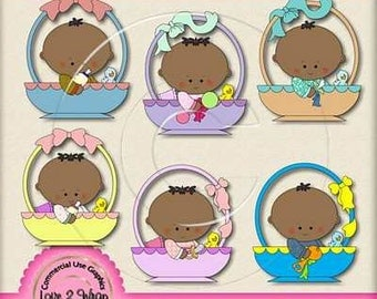 Baby Bassinett AA Exclusive Clipart, Commercial & Personal Use