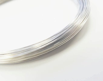 Sterling Silver 24 Gauge Half Hard Round Wire