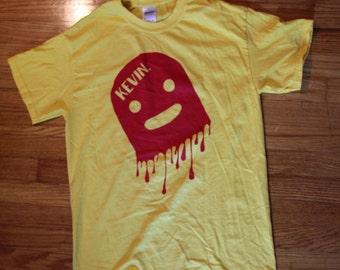 Yellow/Red Drip Large Kevin Shirt