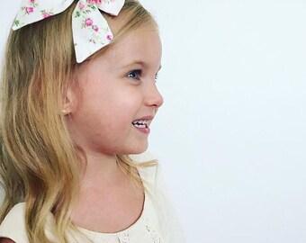 Girls Hair Bow - Liberty of London - Girls Hair Clip - Floral Hair Bow
