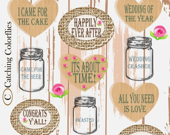 Rustic Wedding Photo Booth Props- Wedding Sign- Wedding Photo booth Props- Thank you Sign- Shabby Chic Wedding Props