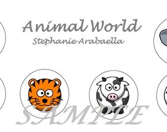 Animal World Edition - Printable Stickers