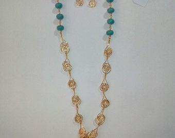 Handmade necklace with semi precious stones