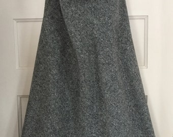 Vintage Wool Heather Grey Swing Skirt made by Rafael, Full Length