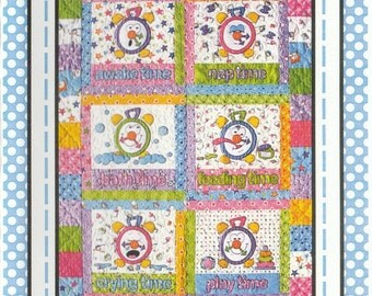 Tick Tock Clocks - Baby Quilt Patter by Amy Bradley Designs