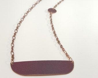 Plum enamel on copper Necklace