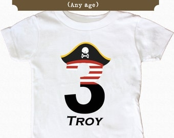 Pirate Birthday Shirt First Birthday Shirt boy ahoy Personalized Age Shirt