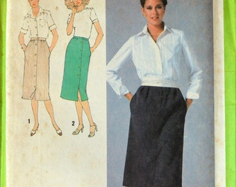 Uncut 1970s Simplicity Vintage Sewing Pattern 9001, Size 12; Misses' Skirts
