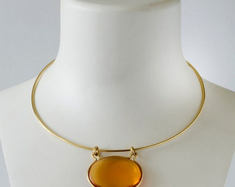 Citrine Amulet Necklace