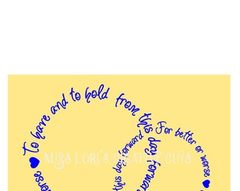 To have and to hold from this day forward 3 For better or worse  Circle of love  SVG Cut file  Cricut explore file