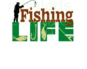 Fishing life hook, fish fisherman reel  SVG Cut file  Cricut explore filescrapbook vinyl decal wood sign t shirt cricut cameo