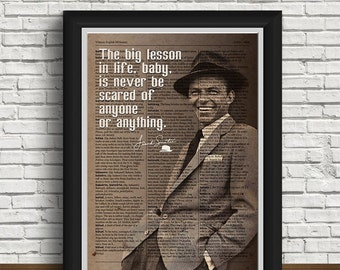 Frank Sinatra poster wall art home decor