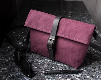 Crossbody Wallet - Burgundy Red Crossbody Bag for Women - Hipster Purse - Hipster Bag - Small Messenger Bag - Cute Purse - Shoulder Bag