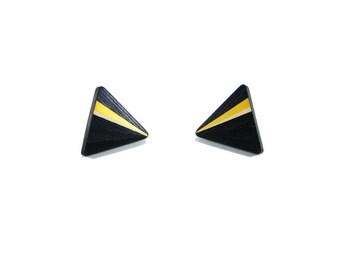BALANCES-15% earrings triangle electric bronze