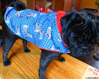 "Coat pattern ""Pugs"" for small dog"