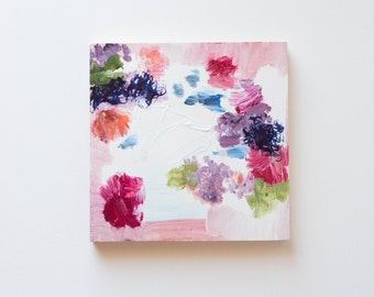 """Floral Abstract Painting, 8x8"""""""