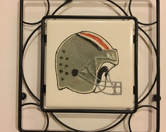 Ohio State Buckeyes Hand-Painted Helmet with Frame