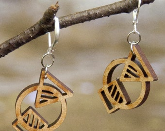 Earrings wooden WOODEARZ CONCEPT