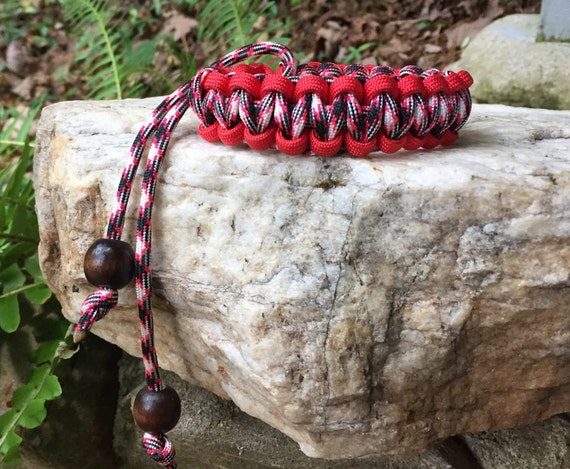 "Paracord Anklet or Bracelet, ""Girls Night Out Cord color"", completely adjustable and reversible,"