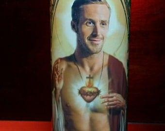 Ryan Gosling -  Celebrity Saint Prayer Candle
