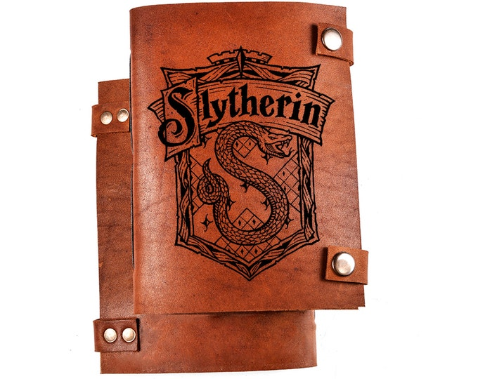 Slytherin notebook - Slytherin journal - Harry potter notebook - harry potter journal - slytherin logo - slytherin diary
