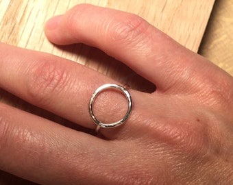 Circulum Ring - Sterling Silver, Handmade & Hammered