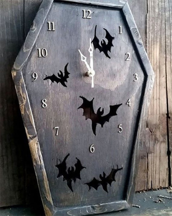 Coffin Shaped Clock