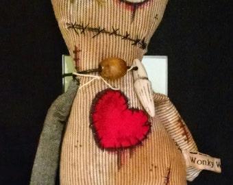 Voodoo doll *Juju doll * art doll * zombie * rag doll * creepy * horror * OOAK * Handmade * TWD