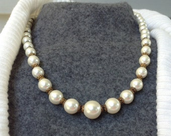Antique Imitation Pearl Necklace