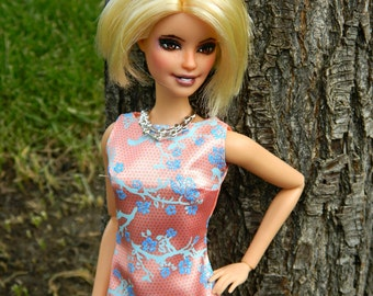 Custom OOAK Barbie Repaint Short Blonde Hair Articulated Body, Includes Clothes