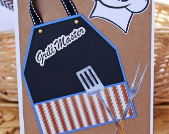 Grill Master, Master of the Grill Card - Father's Day Card, Dad's Birthday Card, Card For Him