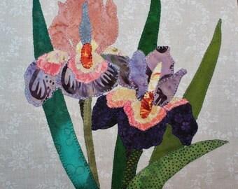 Irises Appliqué Block