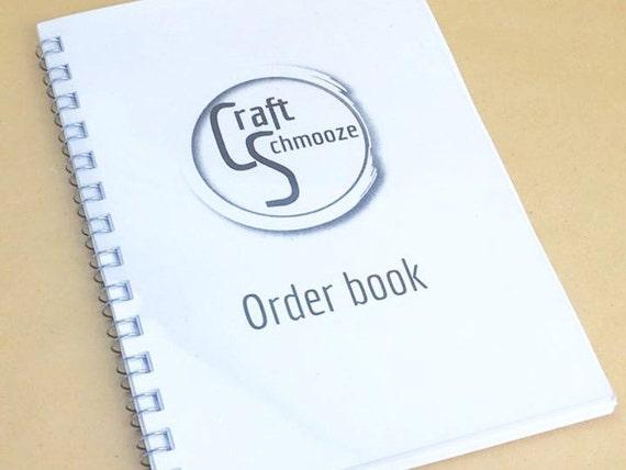 A5, Order book, custom order book, business stationery, branded stationery, order forms, business planner, custom stationery, business book