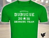 St. Patrick's Day, Dubuque Drinking Team, Green T-Shirt