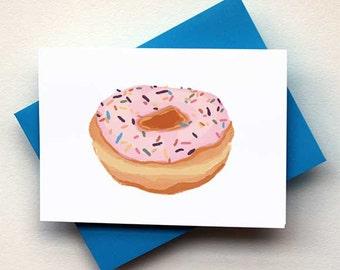 Strawberry Doughnut Card