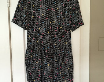 VTG Liz Claiborne Dress- Sz 10 petite // pockadot dress // womens office wear // working girl