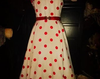 1950s Vintage Rockabilly dress recreation, custom made to order
