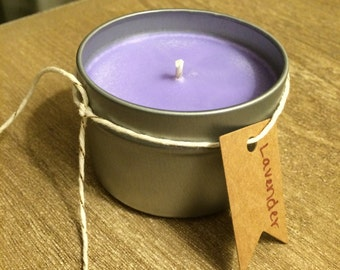 Lavender Highly Scented All Natural Soy Candle Tin 4 oz