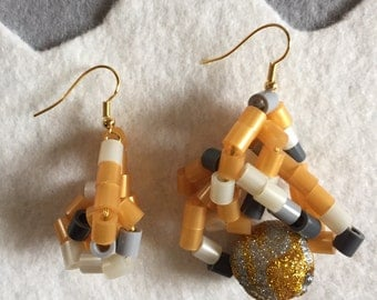 Wearable Earrings: Golden Sunset