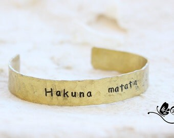 brass bangle / handstamped jewerly / aledi shop /