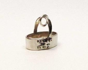 SHAKER BASKET Charm, Shaker Basket Necklace Pendant, Sterling Silver Charms, Basket Jewelry, Brown County Baskets, Brown County Silver