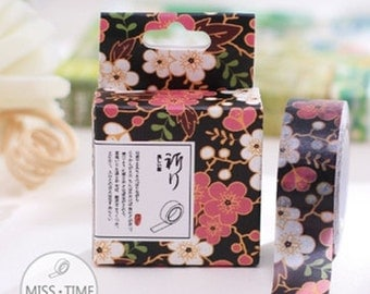 Floral Japanese Washi Tape, Masking Tape, Planner Stickers
