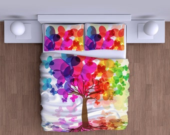 Butterfly Tree Duvet Cover - Super Soft Duvet