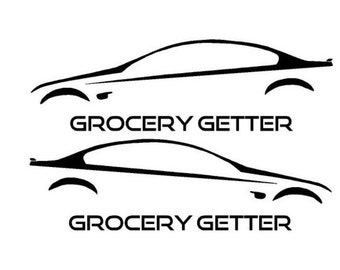 G8 Grocery Getter *PAIR* side window decals *Free Shipping*