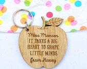 Teacher gifts Personalised teachers keyring teacher gift gift for teacher personalised teachers gift Etsy UK
