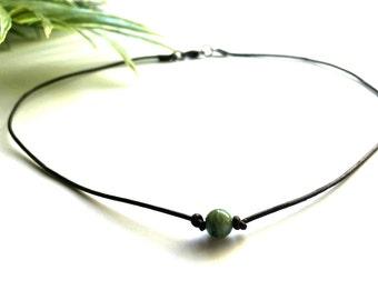 Boho Choker - Boho - Choker - Gift For Her - Choker Necklace - Necklace - Gift For Women - Turquoise Choker - Leather Choker - Beaded Choker