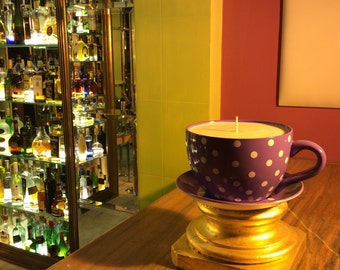 Giant Huge Big Tea Cup Candle , extra large size tea cup candle , huge tea cup candle , big candle tea cup, big size tea cup candle