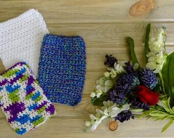 Crocheted Cotton Dishcloth (Set of 3)