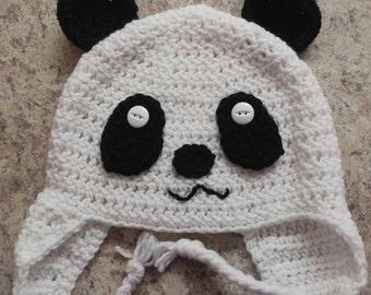 Panda crochet hat *Ready to ship*
