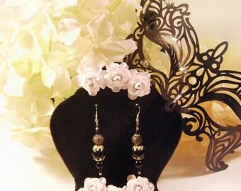Classy Black & Gold Dangle Earrings